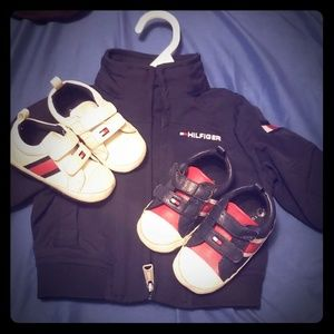 Tommy Hilfiger jacket and 2 pair shoes